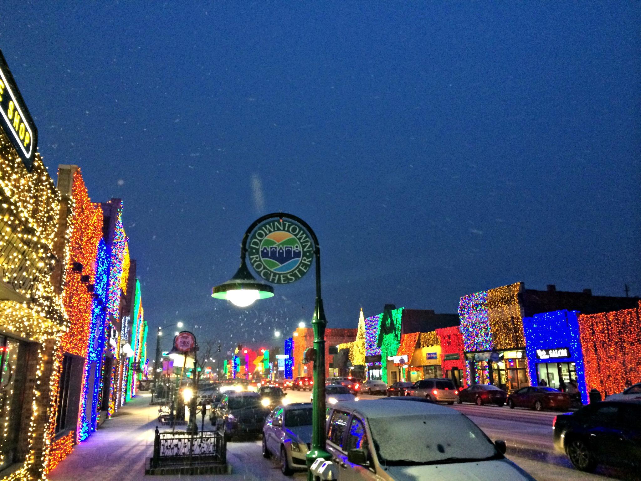 Downtown Rochester Lights winter 2014