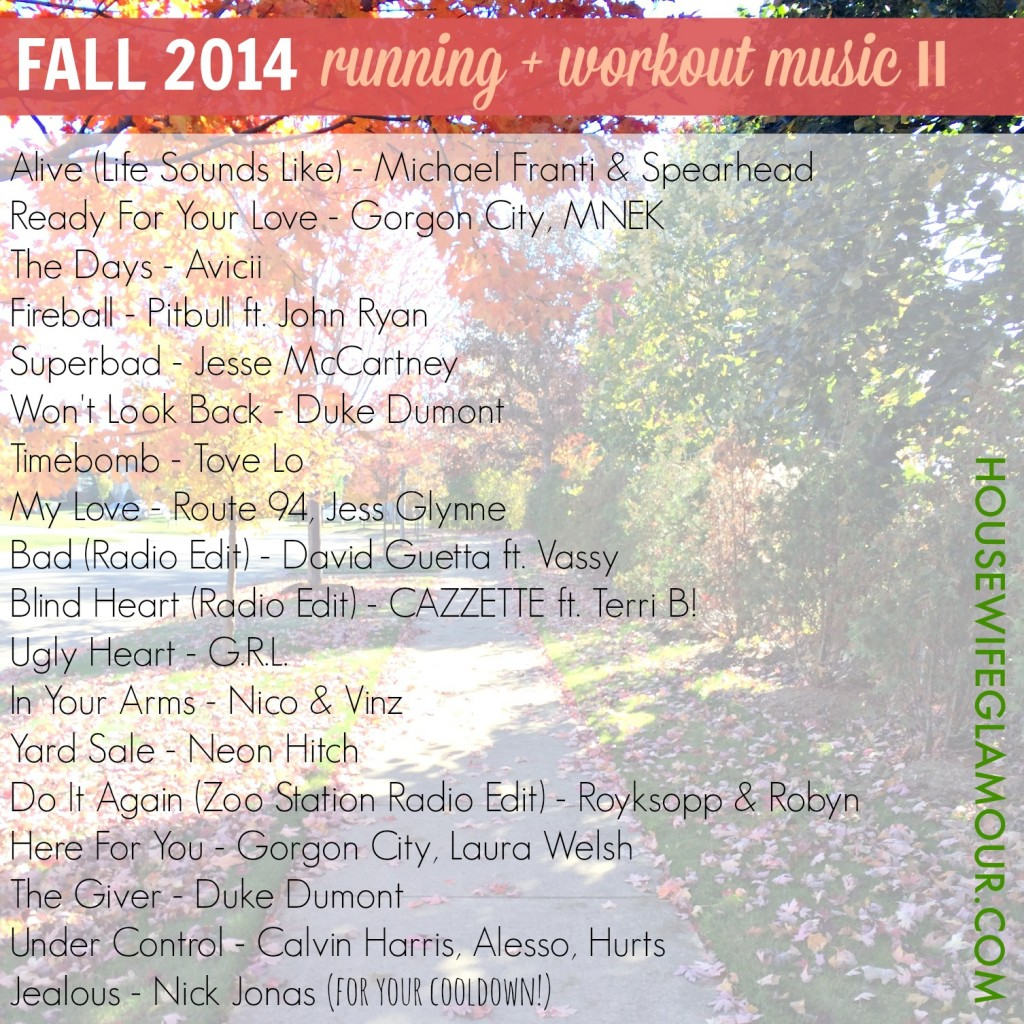 Fall Running and Workout Music Playlist