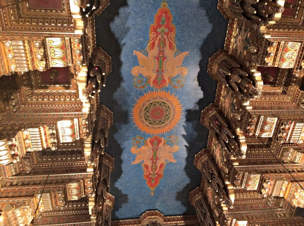 Fox Theatre inside ceiling