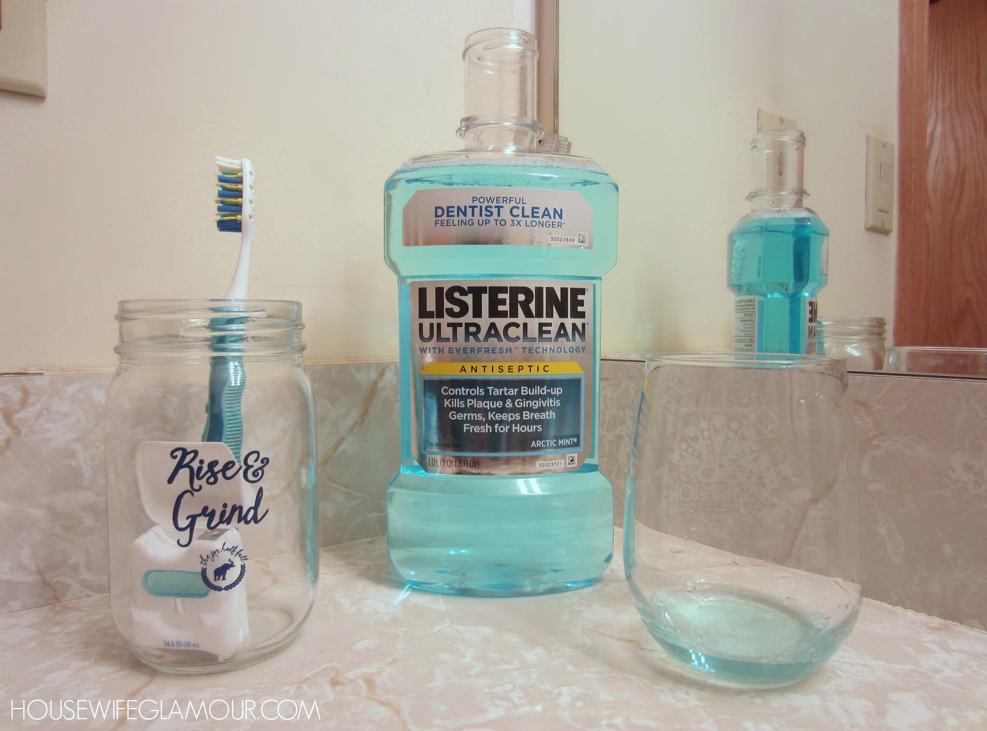 Listering Antiseptic mouthwash routine
