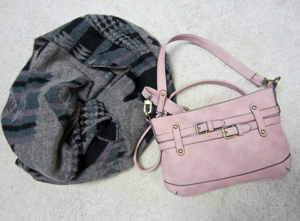 Merona purse and scarf from Target
