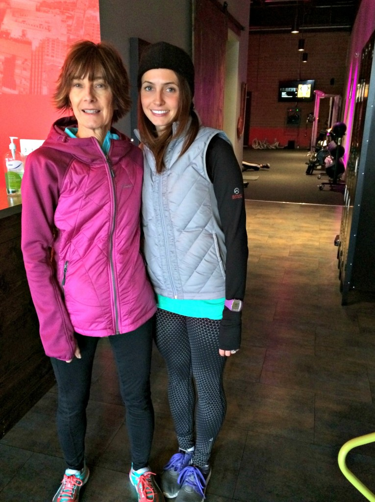Mom at Rock City Fitness with me