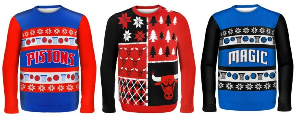 NBA ugly christmas sweaters