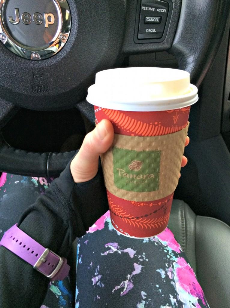Panera Hazlenut coffee after race