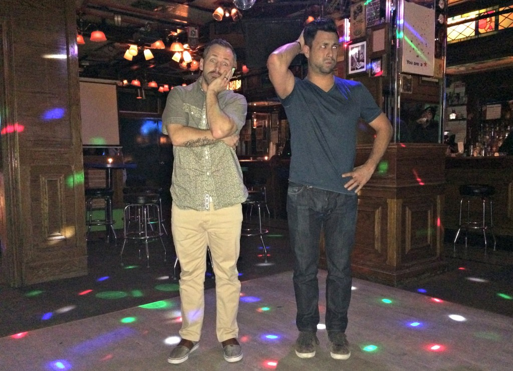 Scott and Barry dancing in chicago