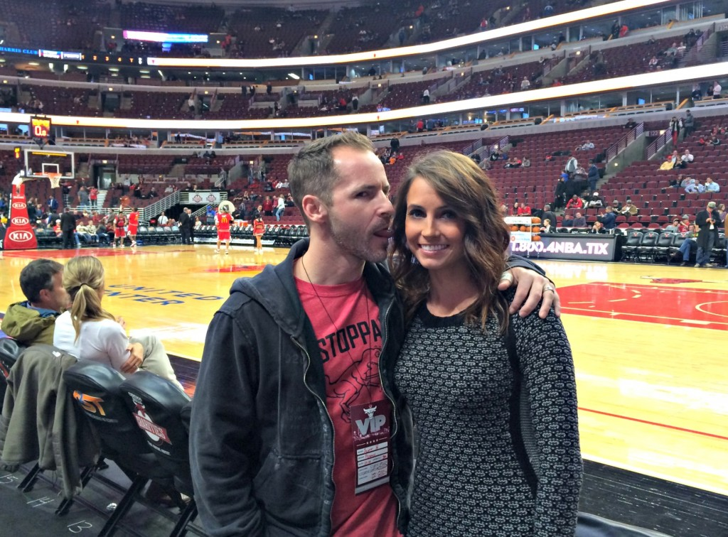 Scott and I at Bulls Game 2014