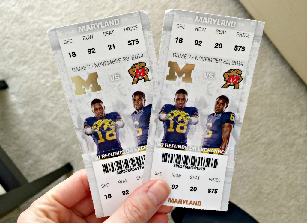 U of M football tickets