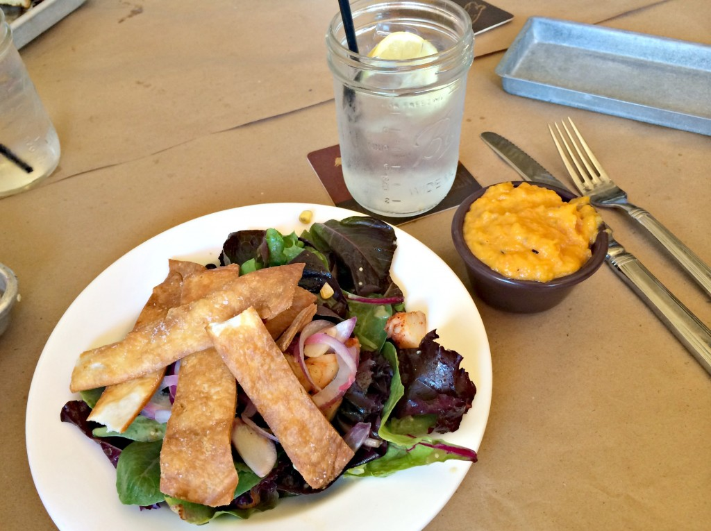 Woodshop Shrimp Salad and Sweet Potato Mash