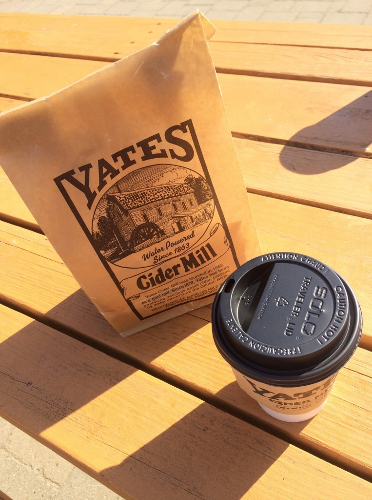 Yates Cider Mill donuts and cider