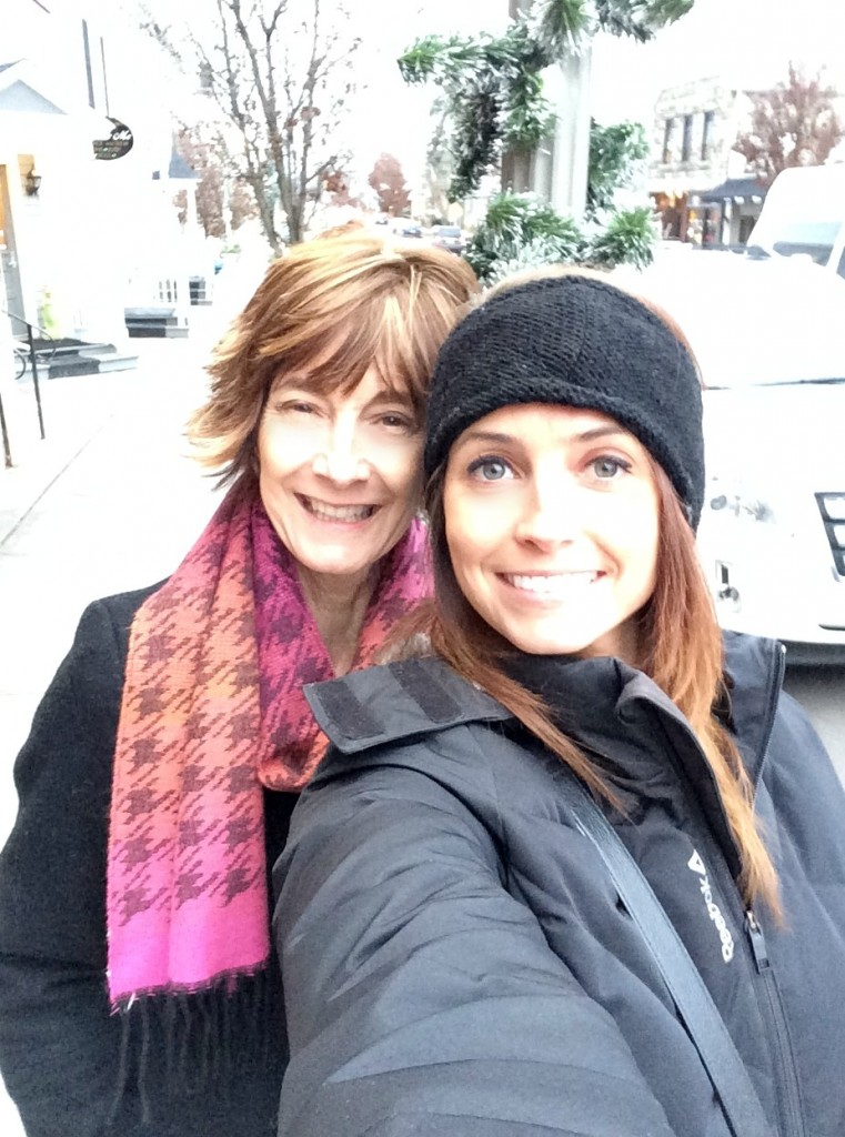 downtown clarkston with mom