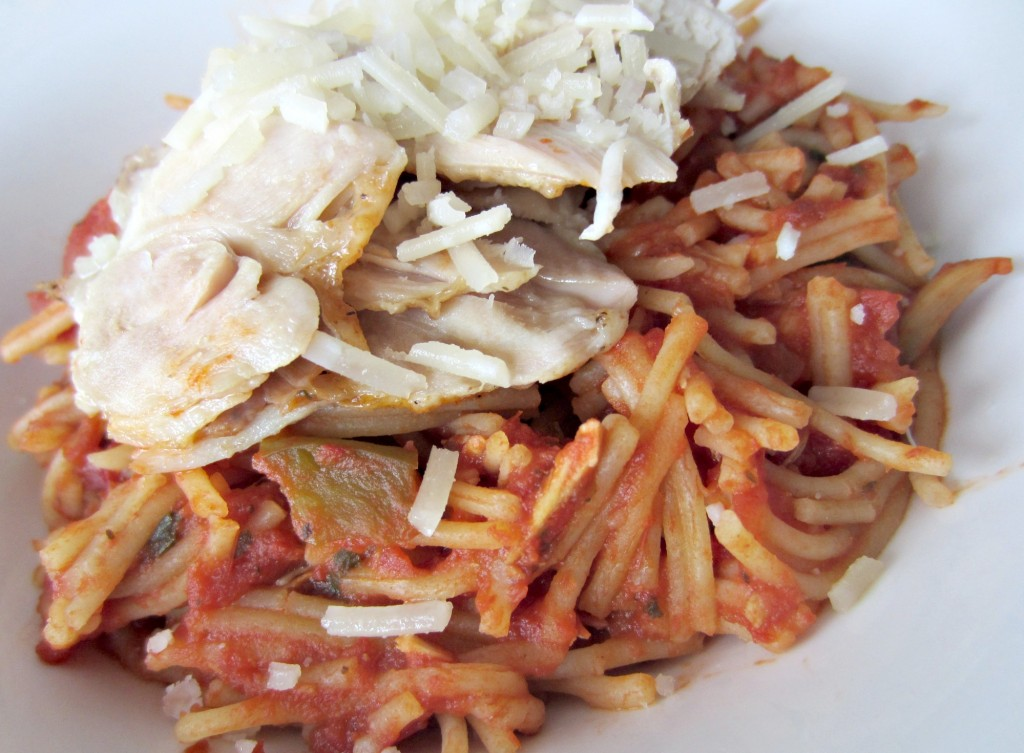 gluten free pasta with chicken and vegetables