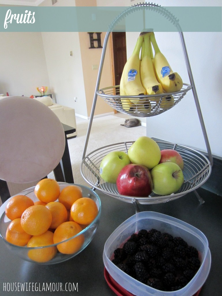 grocery haul fruits