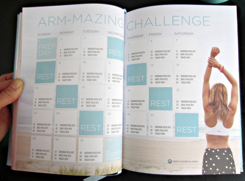 lorna jane arm workout in diary