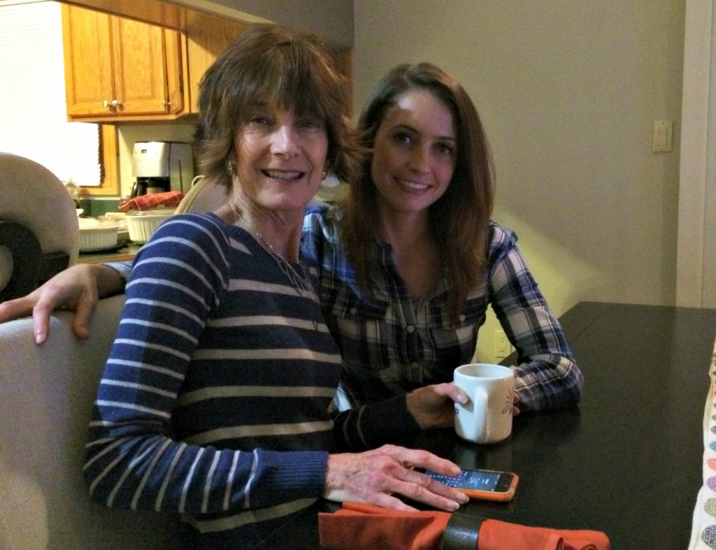 mom and i at thanksgiving 2014