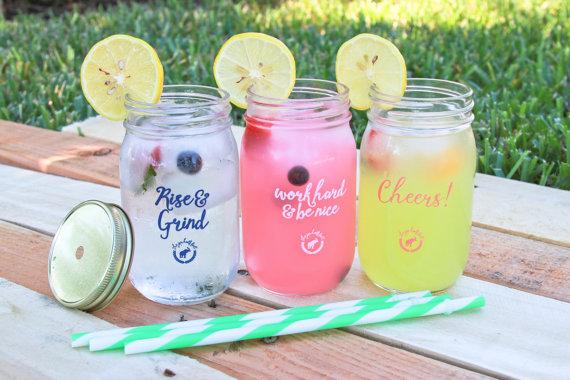 the jar half full glass mason jars