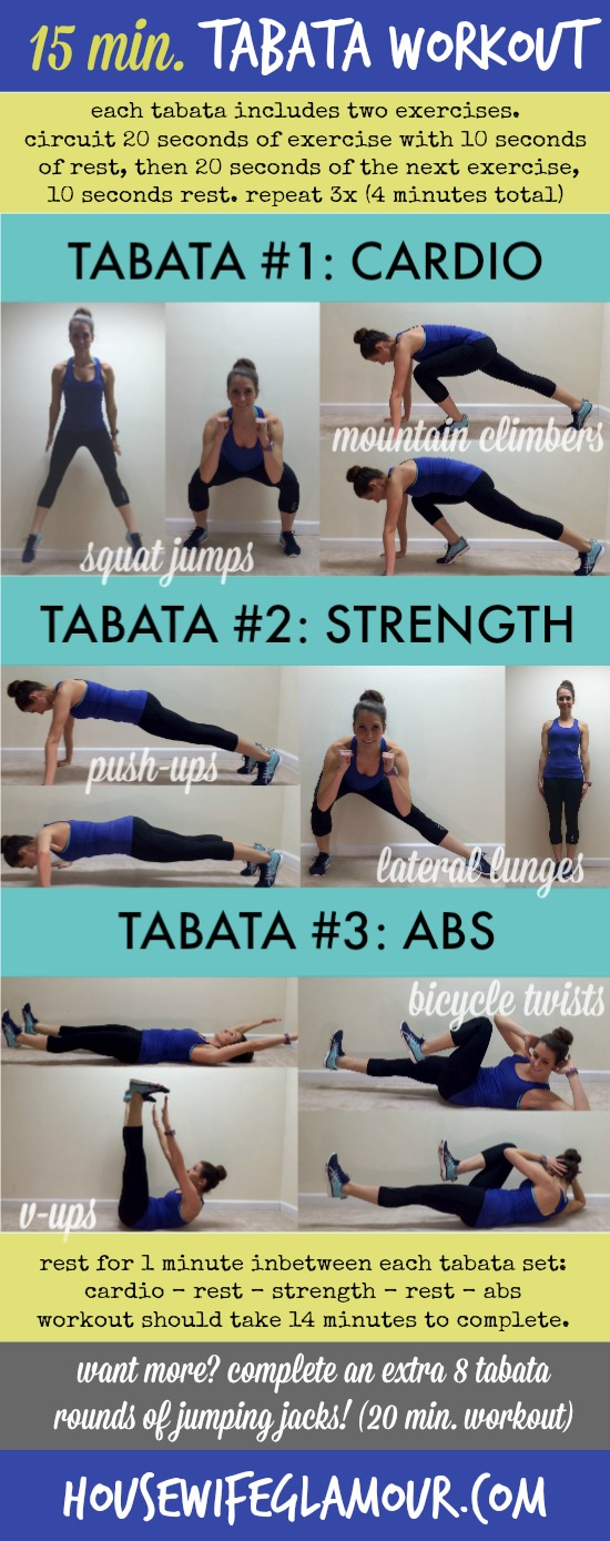 15 minute at home tabata workout