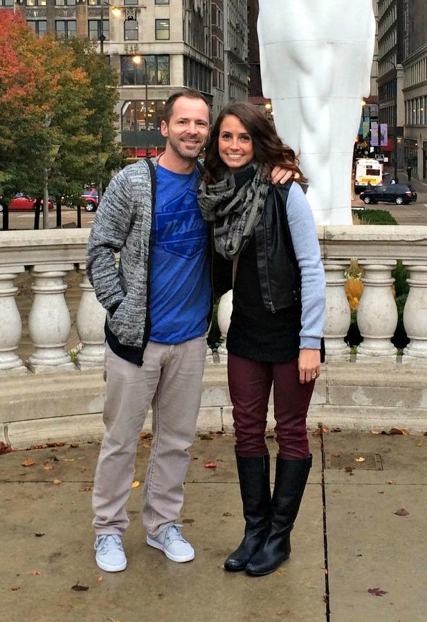 Scott and I Milleium Park Chicago closeup