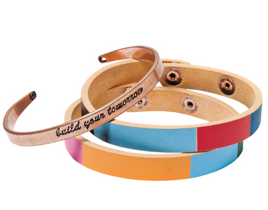 TOMS for Target copper and polylurethane bracelets