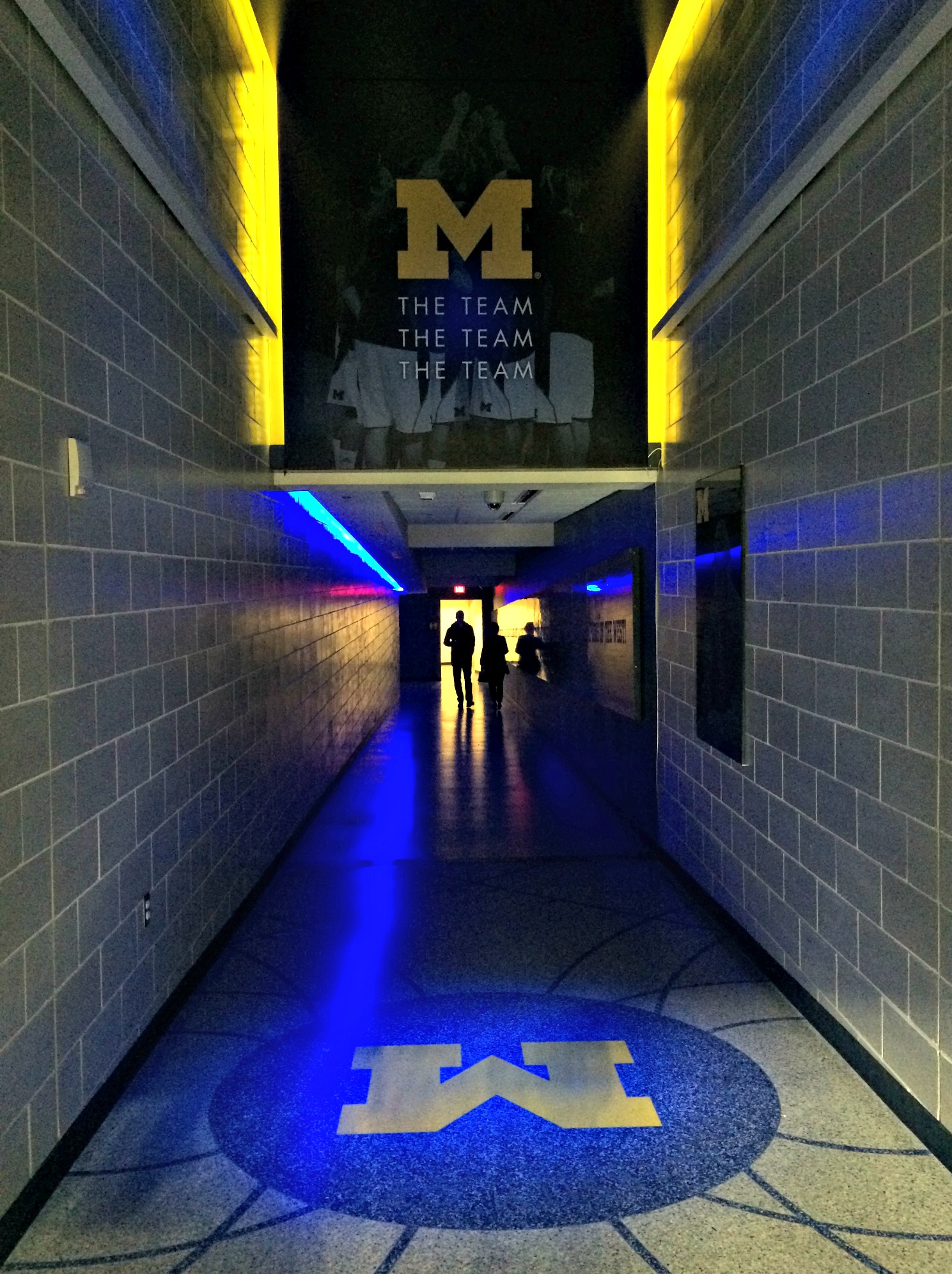 U of M team tunnel