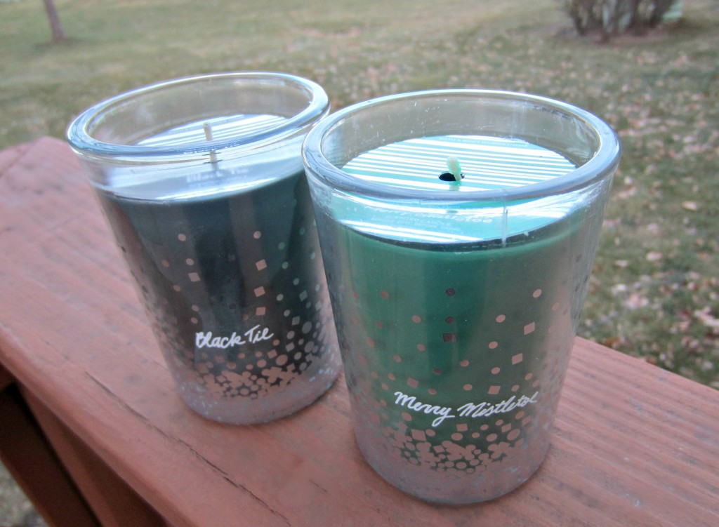 bath & body works holiday scented candles