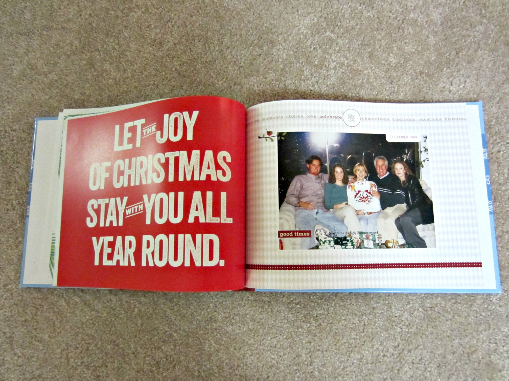 family christmas photo book