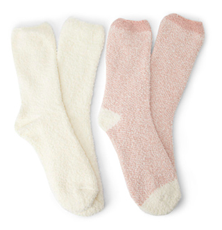 fuzzy knit socks set