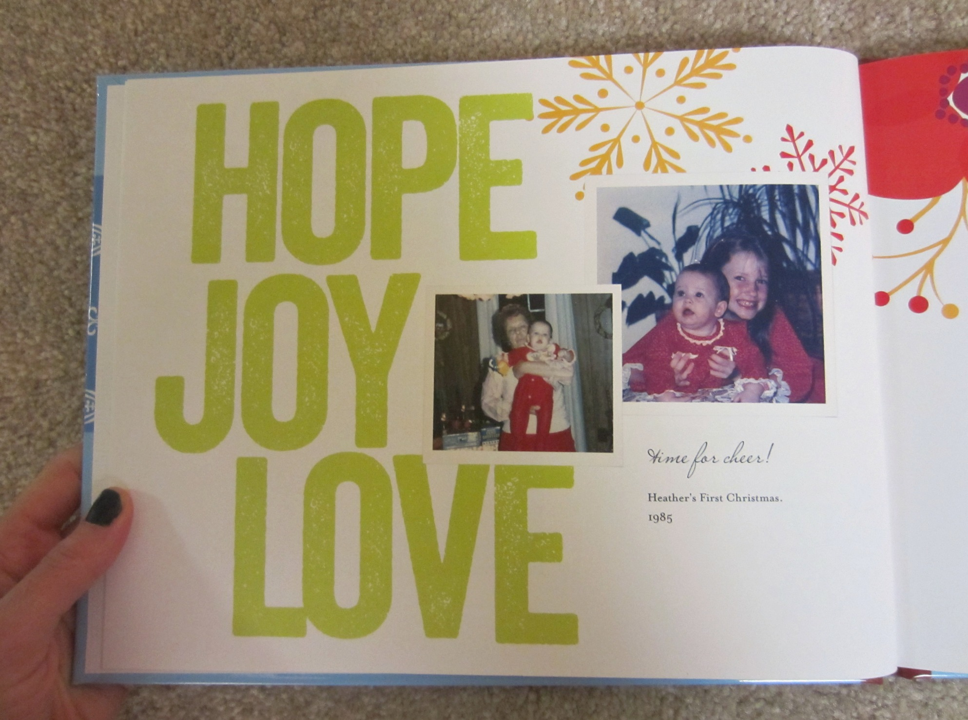 holiday family photo album book