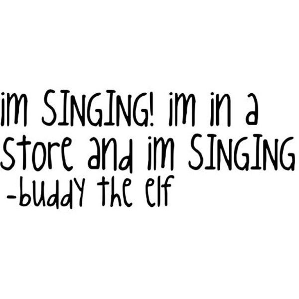 im singing in a store buddy the elf