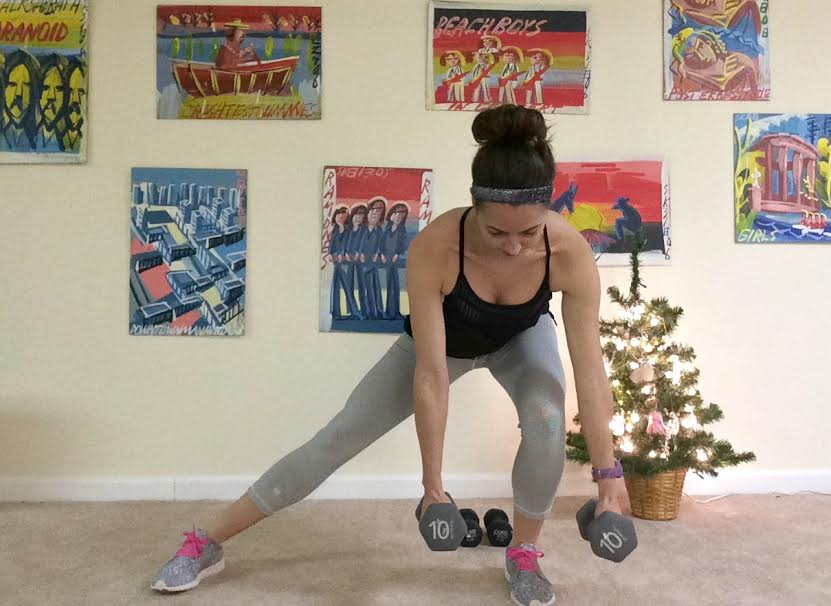lateral (side) lunges with dumbbells
