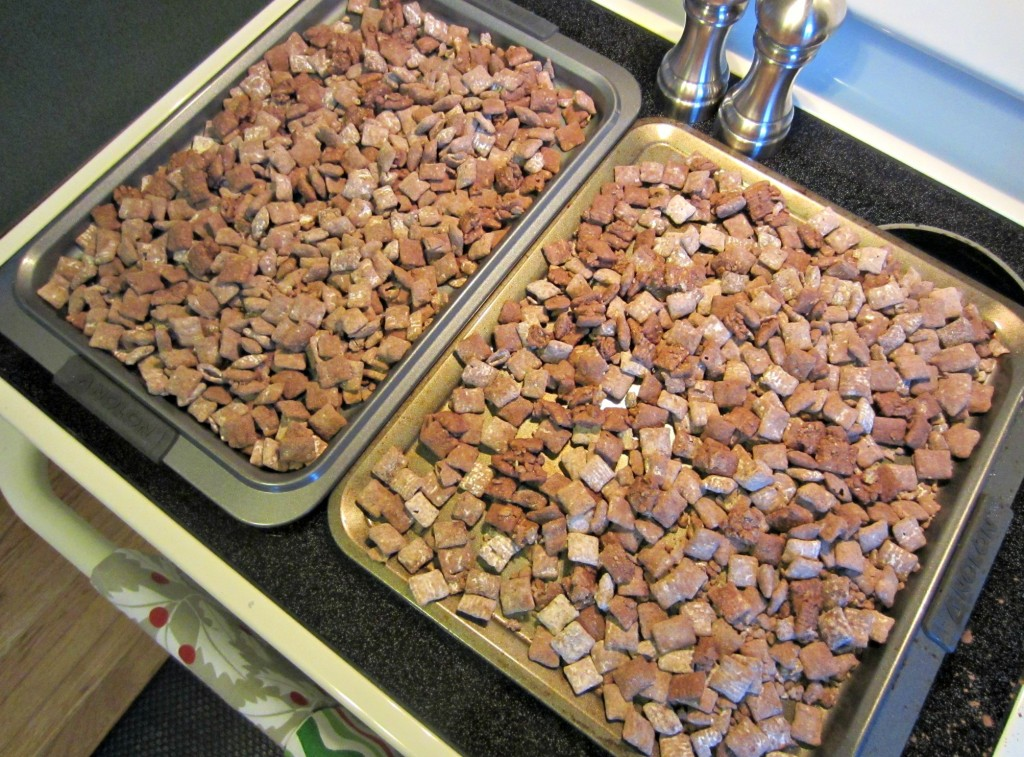 making puppy chow