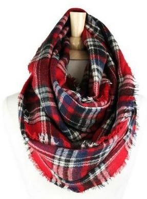red plaid scarf