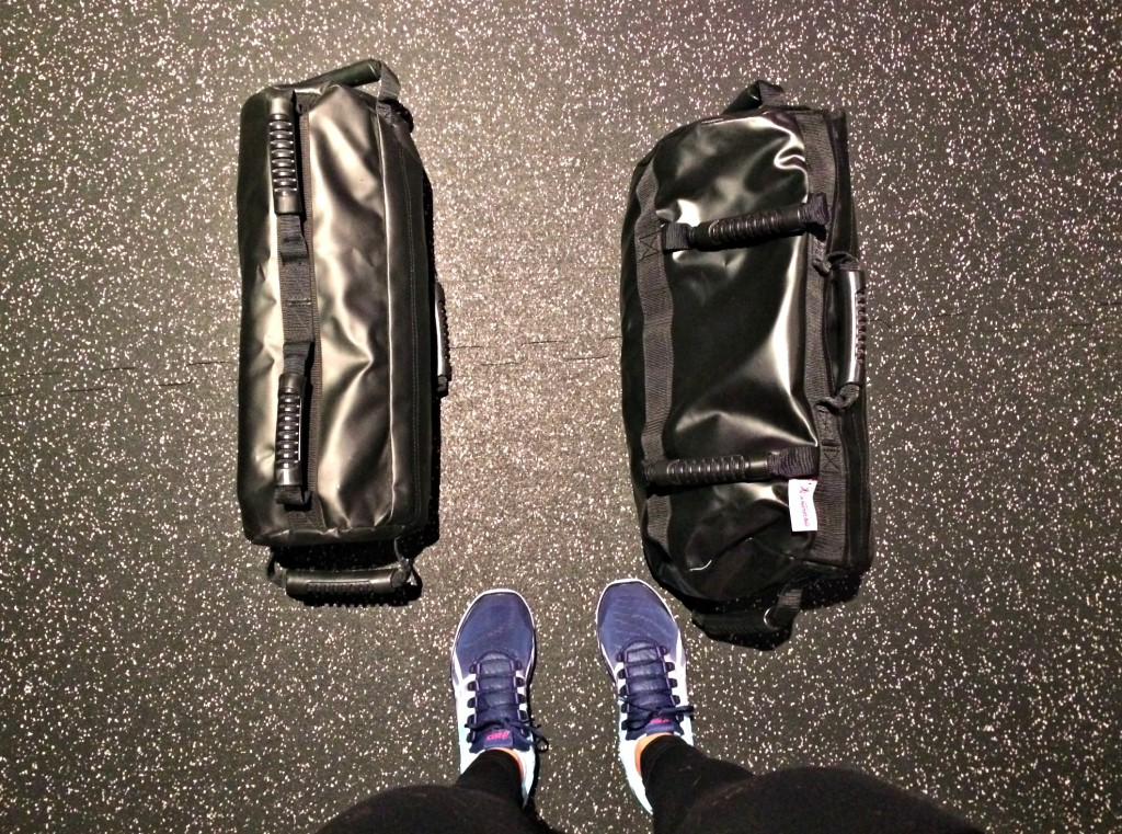 sandbags in the gym