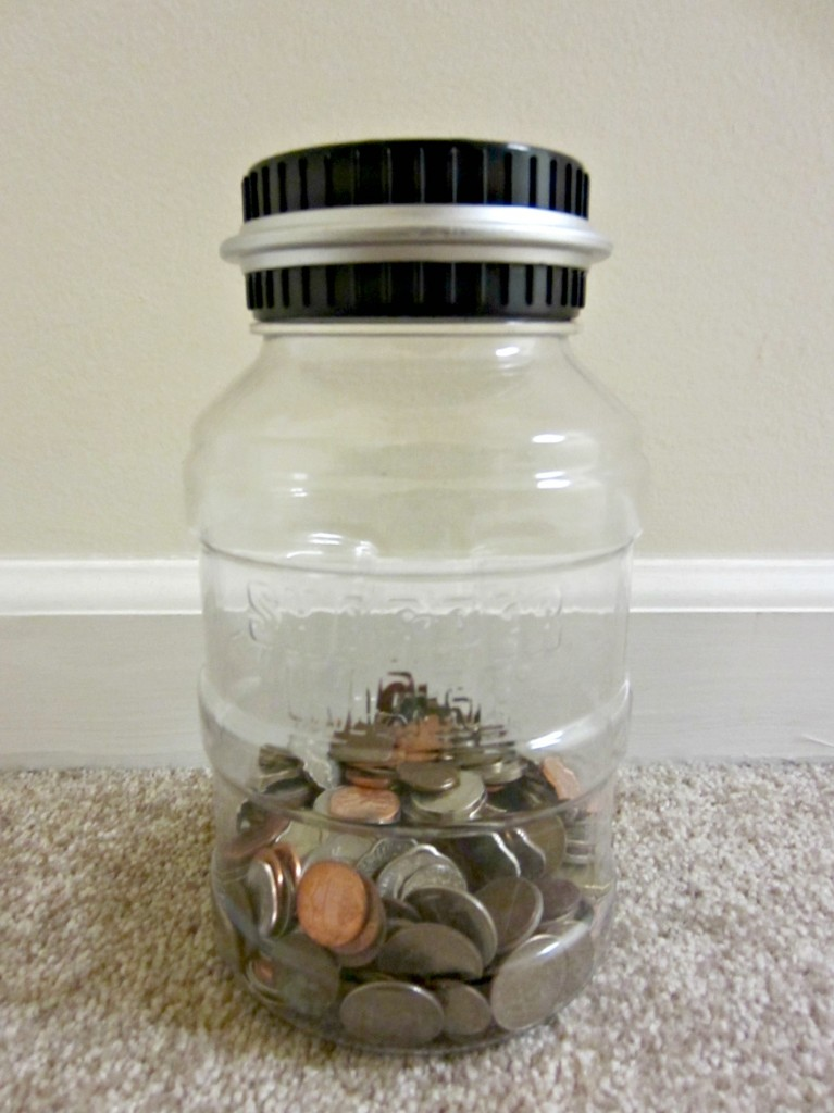 sharper image digital coin counting money jar