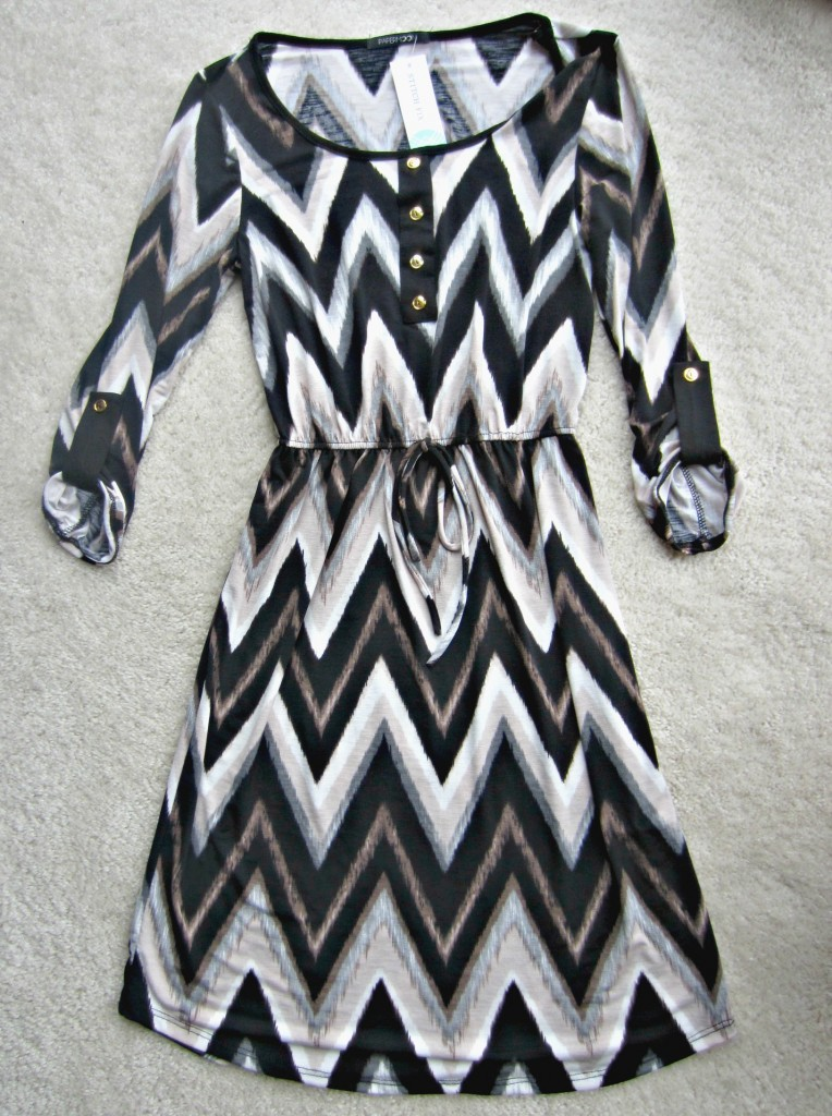 stitch fix papermoon 34 chevron dress