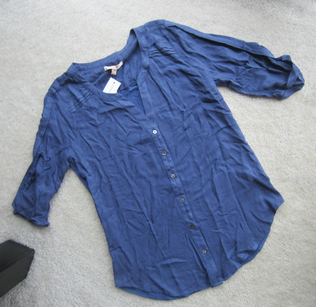 stitch fix skies are blue tory textured button front shirt
