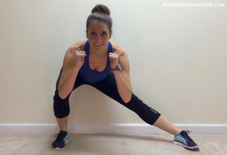 tabata workout lateral lunge