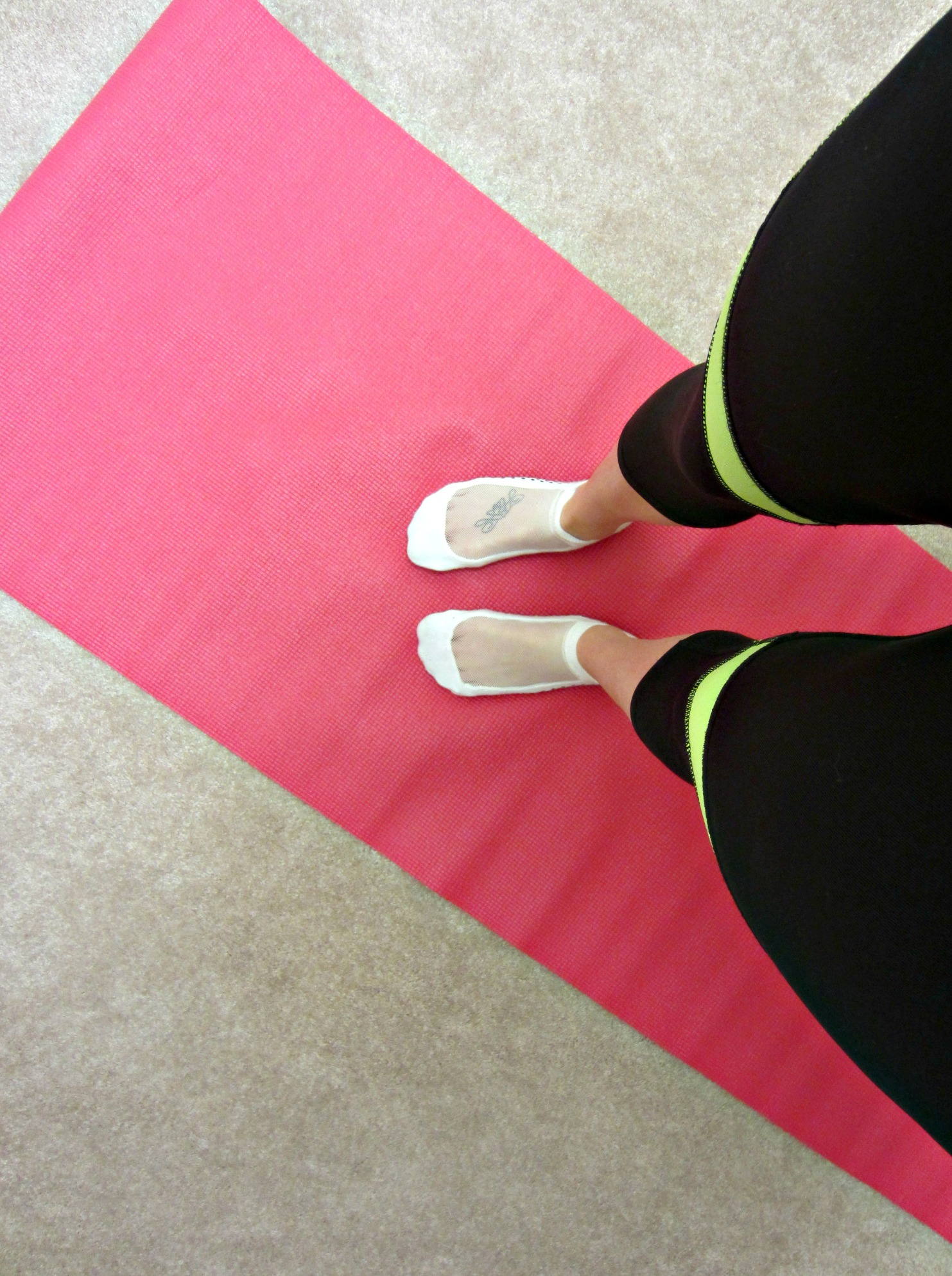 yoga at home in barre socks