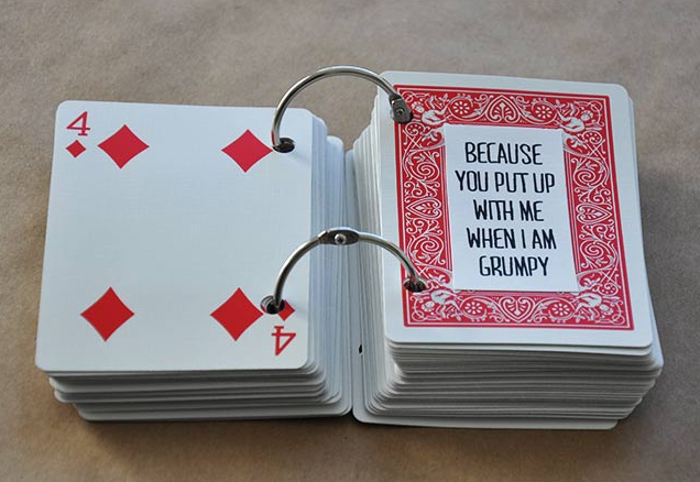 52 things i love about you cards inside - visual heart