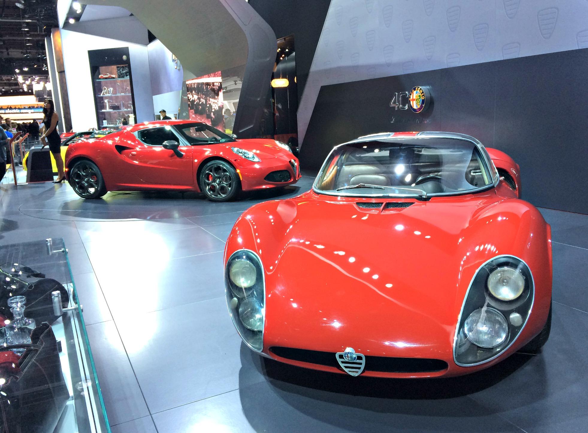 alfa romeo cars at auto show