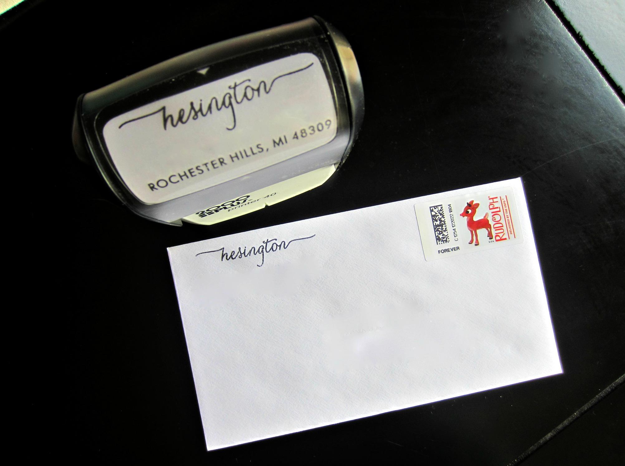 customized address stamp