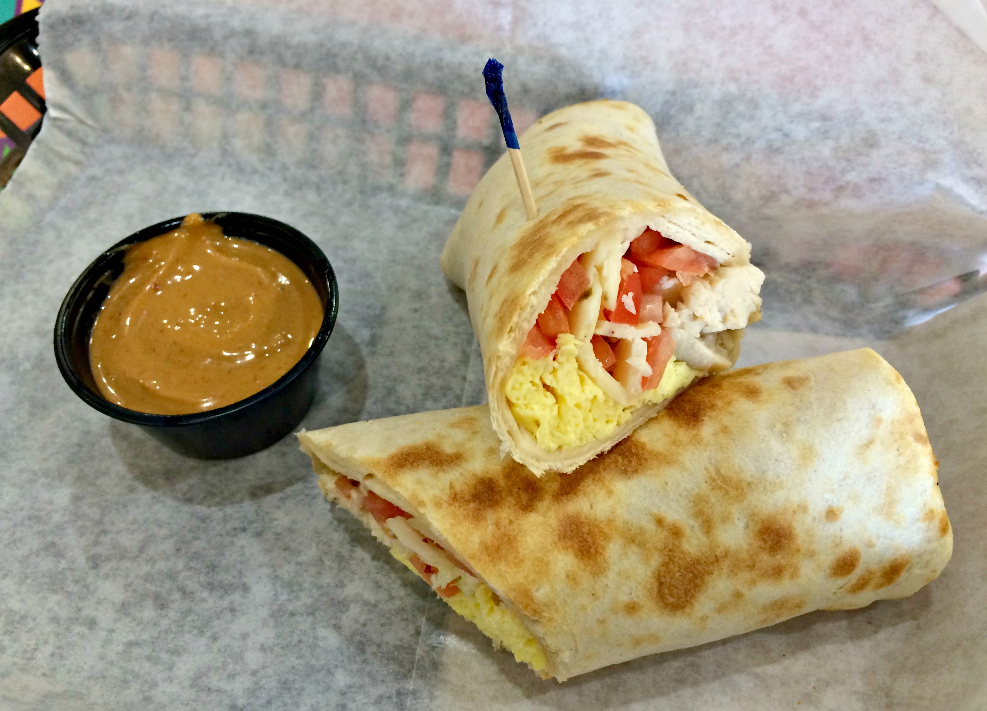 early bird wrap tropical smoothie
