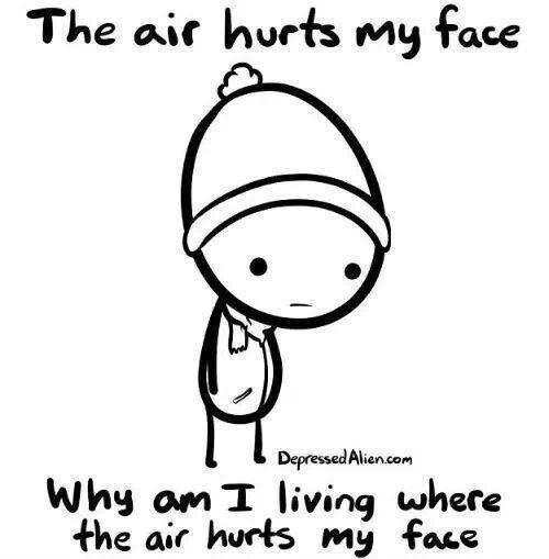 face hurts from cold