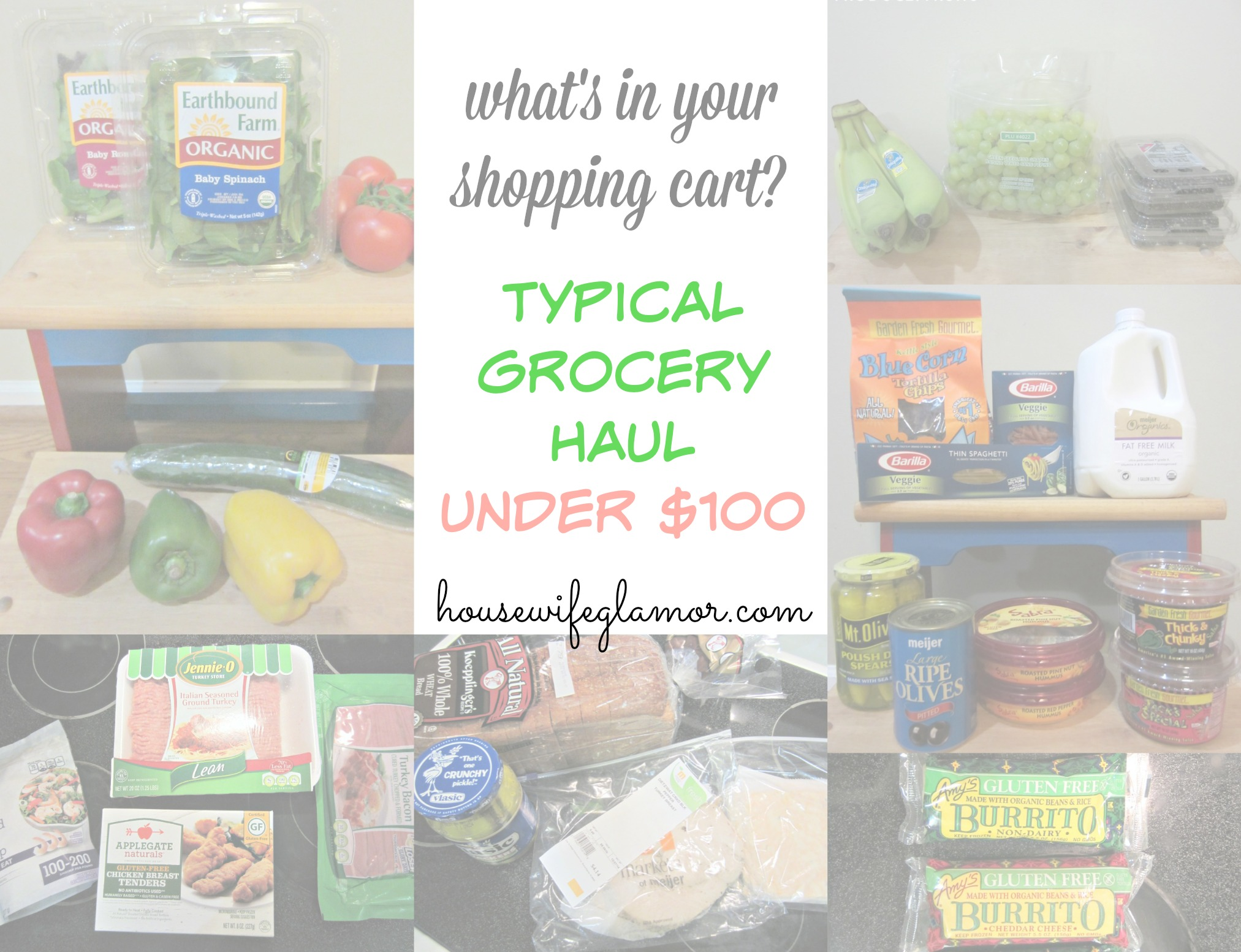 grocery haul under $100