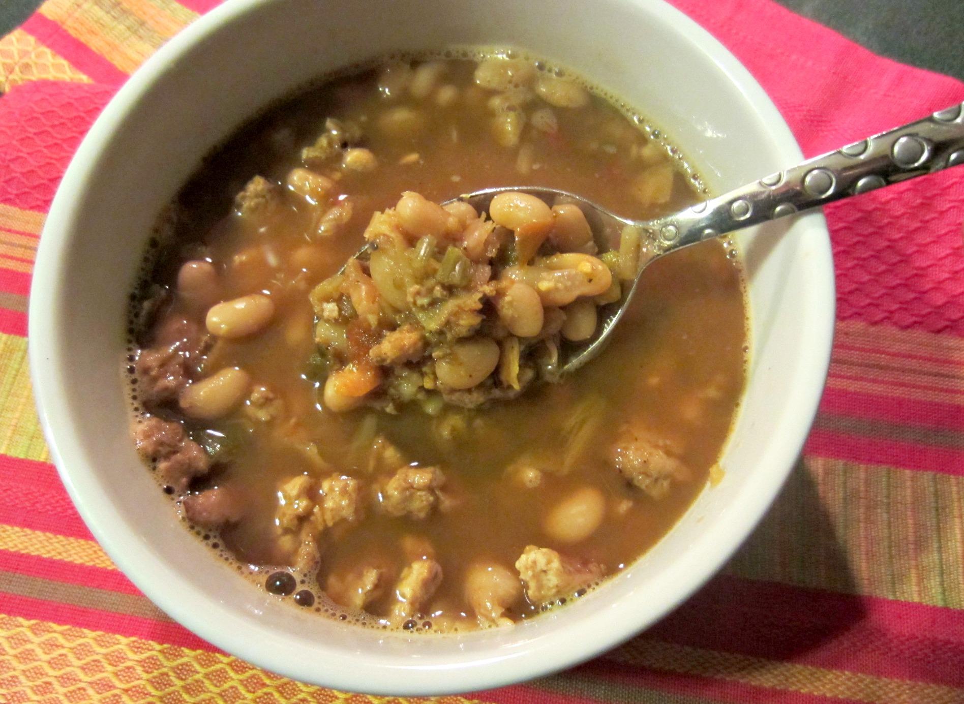 ground turkey bean soup