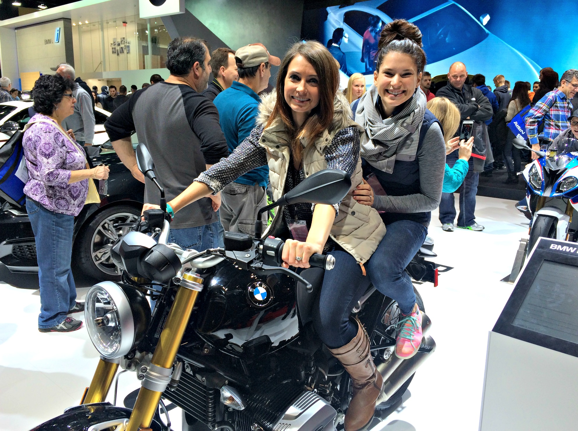 heather and alex on bmw bike