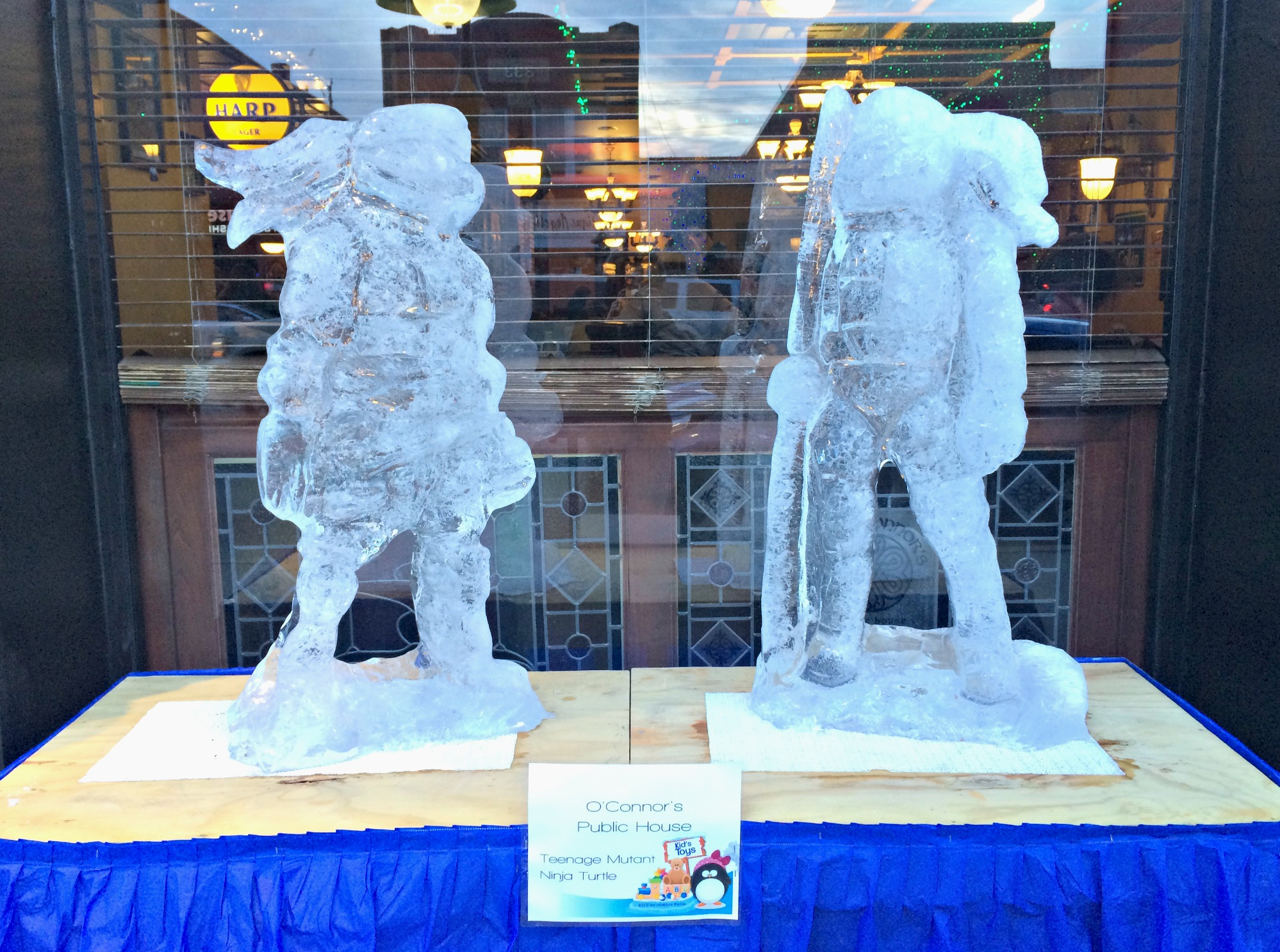 ice sculptures teenage mutant ninja turtles