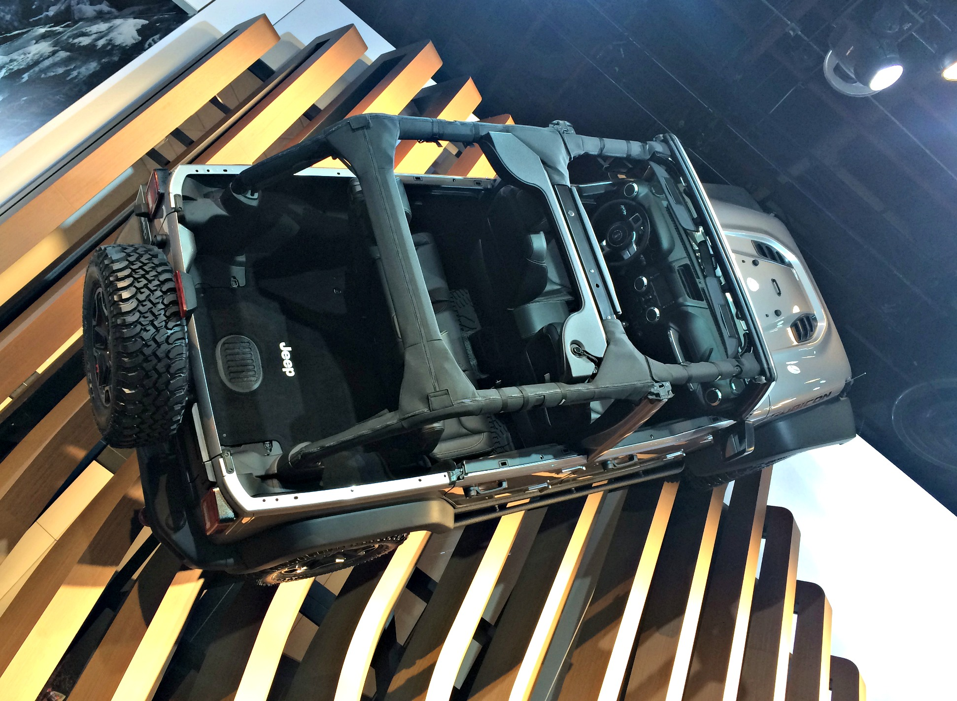 jeep wrangler display