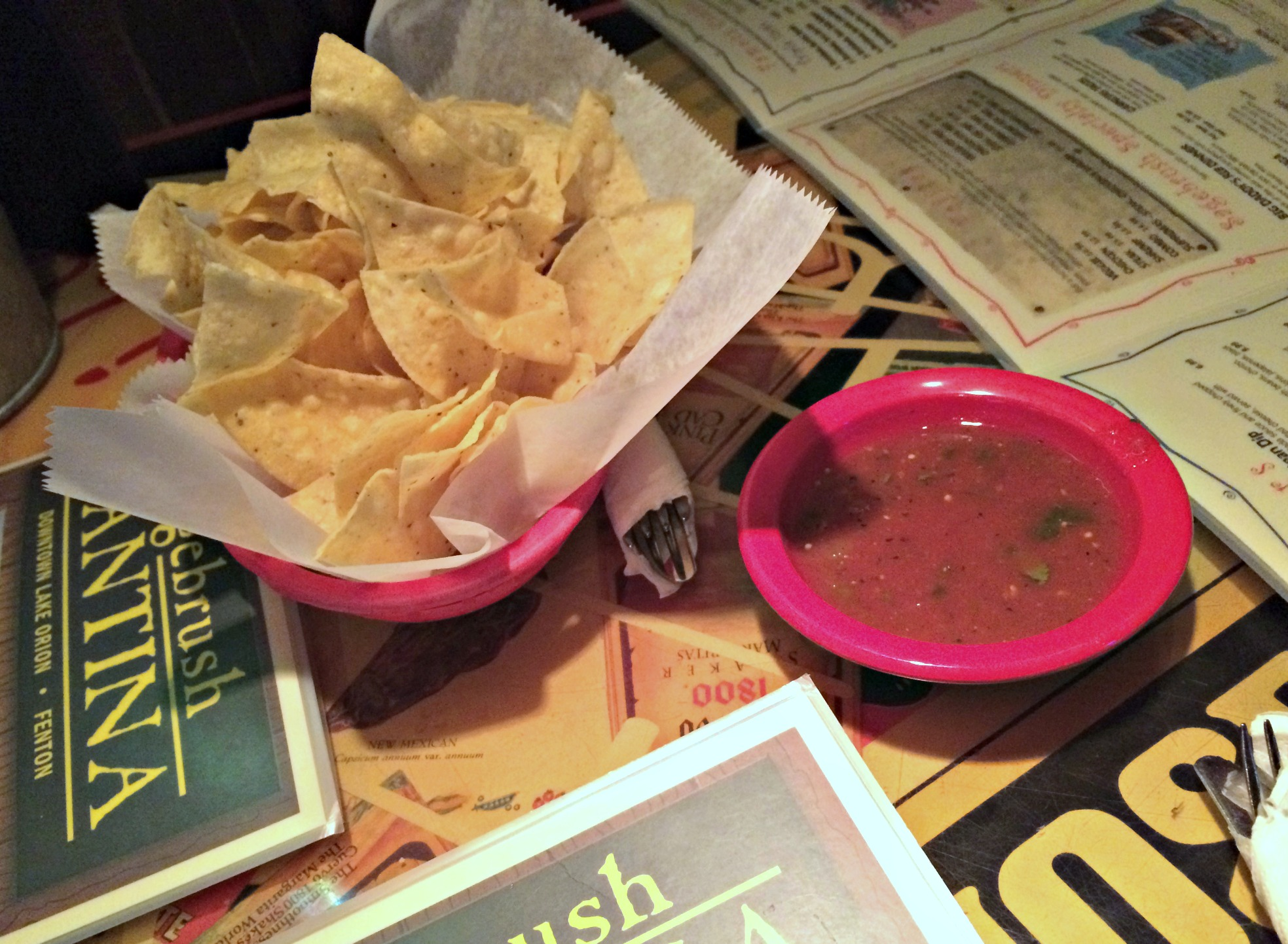 sagebrush cantina salsa and chips