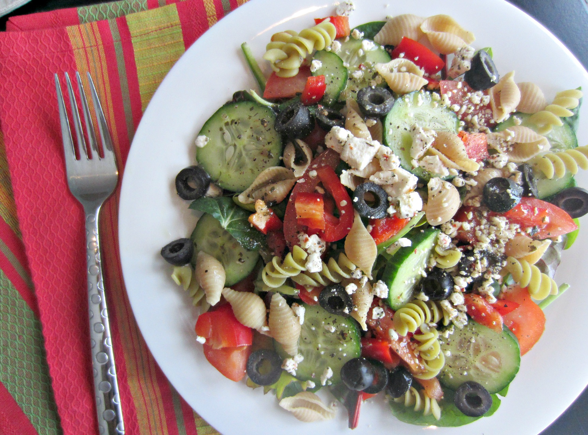 salad with noodles