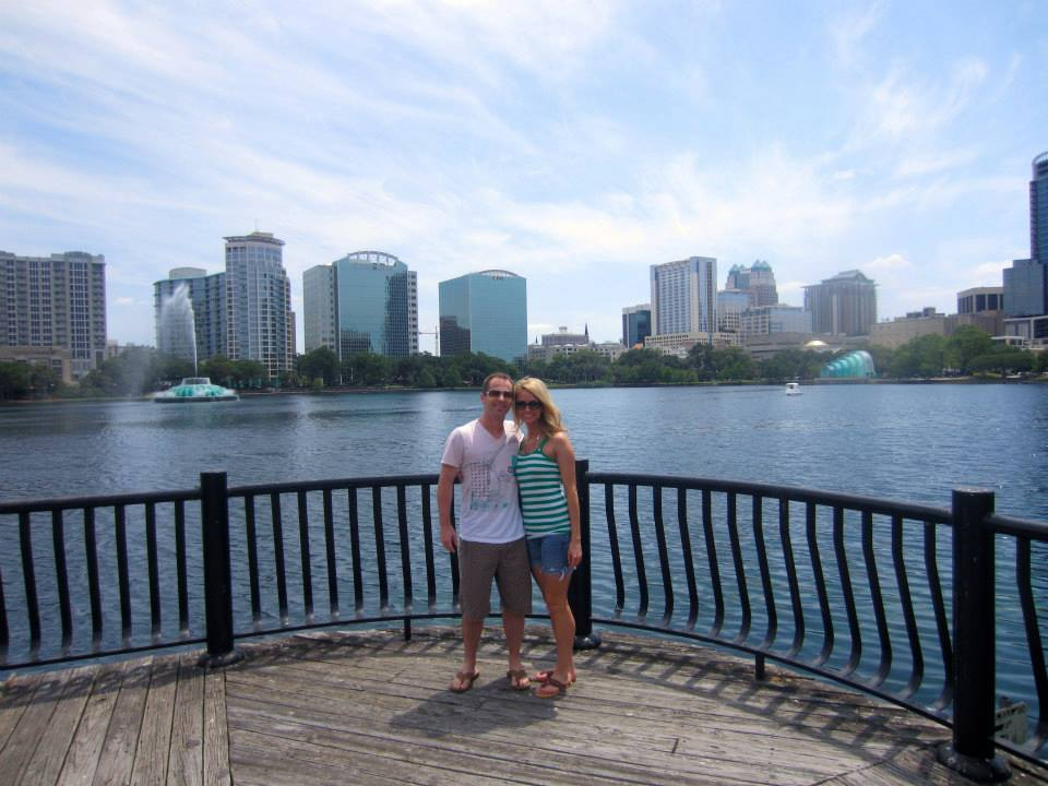 scott and i at lake eola park